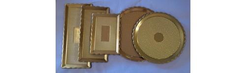 Plastové podložky zlaté