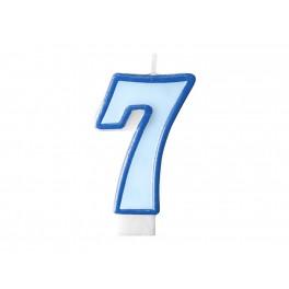 Svíčka narozeninová číslice 7 modrá