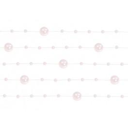 Girlanda z perliček SVĚTLE RŮŽOVÁ, 1,3 m
