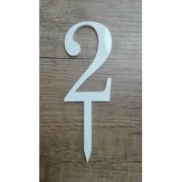 Číslice č.2 - bílá