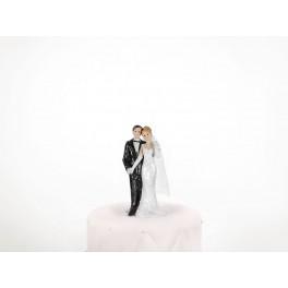 Svatební figurka Novomanželé držící se za ruku