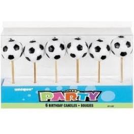 Fotbalové míče - svíčky 6ks