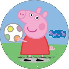 Prasátko Pepina (s míčem) - tisk na jedlý papír