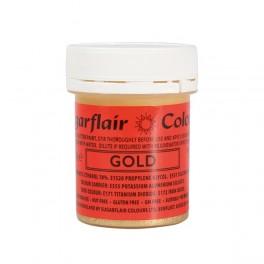 Sugarflair tekutá glitterová barva Gold 35g