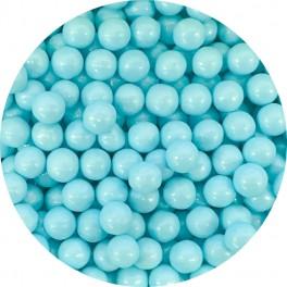 Cukrové perly světle modré 7 mm 50g