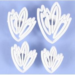 Orchard Lace Leaf Cutter Set (Krajkový list) 4 ks