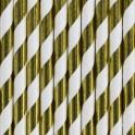 Papírová brčka zlatá (10 ks)