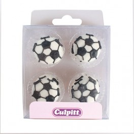 Fotbalové míče - cukrové ozdoby 12ks