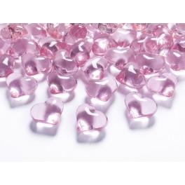 Krystaly srdce sv. růžové 21mm (30ks)