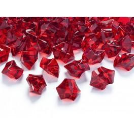 Krystaly velké červené 25x21mm (50ks)
