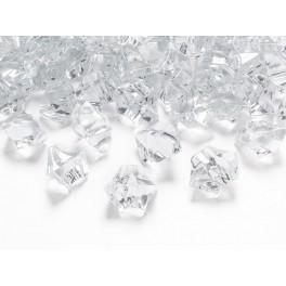 Krystaly velké čiré 25x21mm (50ks)