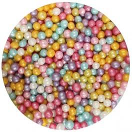 Perleťový mix perliček 4mm / 50g