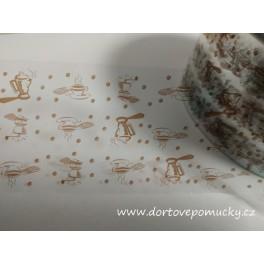 Dortová páska 50mm s potiskem kavárna 2