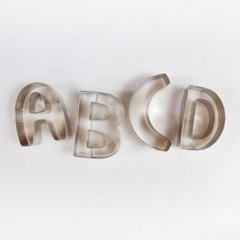 Velká kovová abeceda a čísla 26 kusů