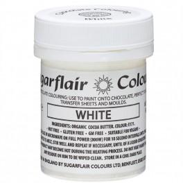 Barva do čokolády na bázi kakaového másla Sugarflair White (35 g)