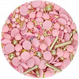 FunCakes Cukrové zdobení růžovo-zlaté Glamour Pink Medley (65 g)